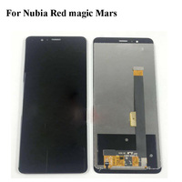 Black LCD+TP For Nubia Red magic Mars NX619J LCD Display with Touch Screen Digitizer Smartphone Replacement Red magic Mars
