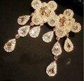 Ouro strass gota étnico mulheres Medusa brincos grandes brincos para elegante allied expressb marca