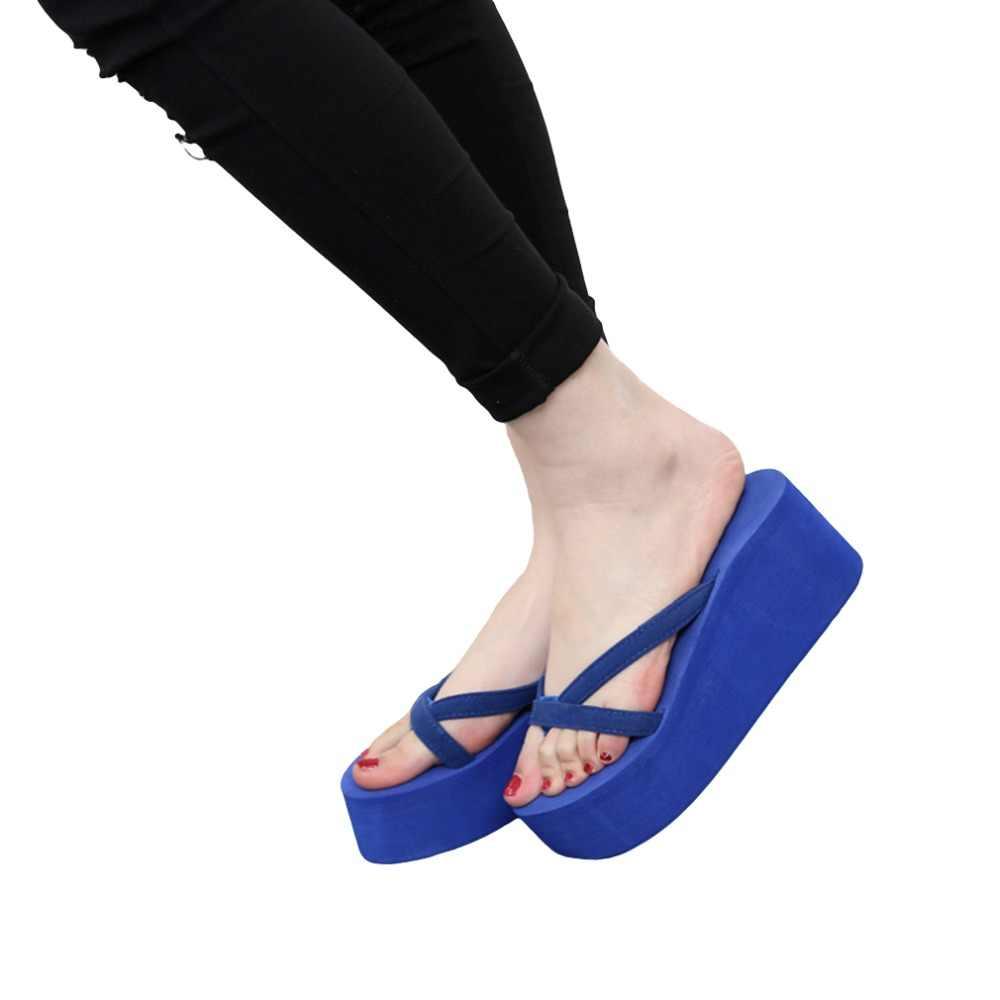 2317922e38dbb2 ... Summer Sandals Wedges Women Slip Flip Flops Beach Sandals Shoes  Fashionable Casual Sandals Female Ladies Shoes ...