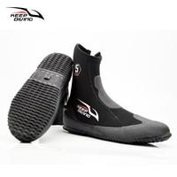 KEEP DIVING 5MM Neoprene Scuba Diving Boots Water Shoes Vulcanization Winter Cold Proof High Upper Warm