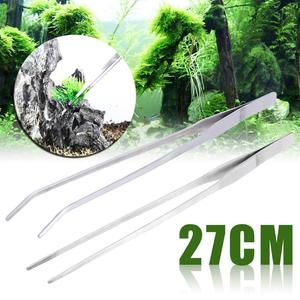 Image 1 - New Straight/Elbow Stainless Steel Tank Tweezers Pliers Aquarium Tool Fish Tank Aquatic Plants Forceps Clip For Cleaning Tool