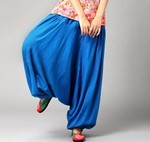 Women-Wide-Leg-Pants-Large-Size-cross-Pants-Plus-Size-Dancing-Pants-Sashes-Casual-Trousers-Linen