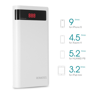 Image 2 - ROMOSS Senso 6P 20000mAh Batteria Esterna Portatile di Accumulatori e caricabatterie di riserva con Display A LED Dual USB Fast Charger per iPhoneX Samsung s8 iosx