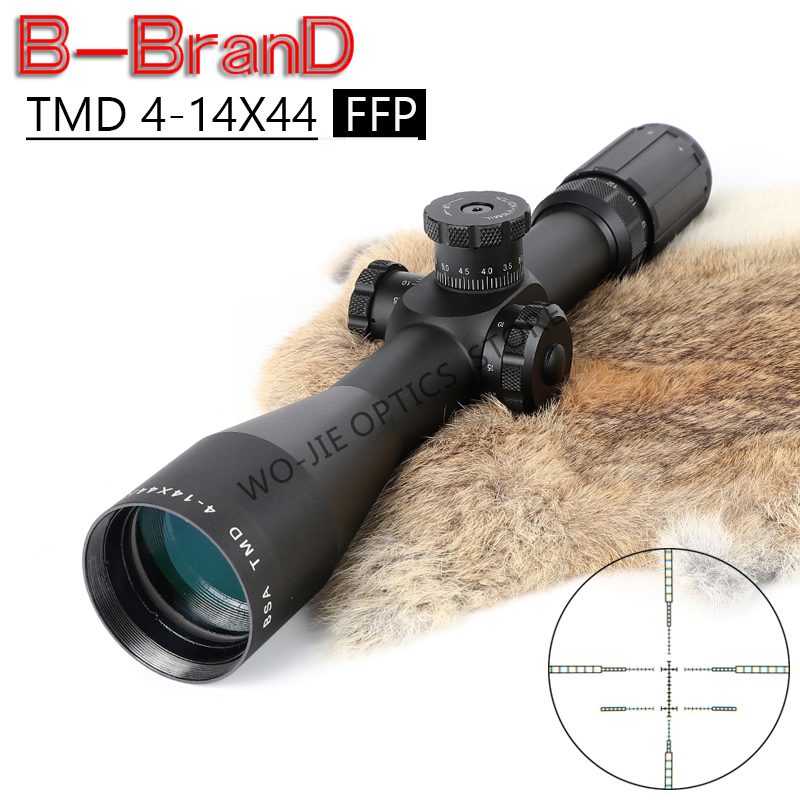 TMD 4-14X44 FFP Tactical Riflescope Sniper Optic Sight Hunting Scopes Rifle Air Red Dot Airsoft Rifle Accessories Rifle Scope