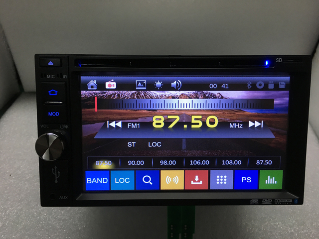 2din New universal Car Radio Double 2 din Car DVD Player GPS Navigation In dash,  Free shipping