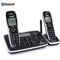 DECT6.0 teléfono inalámbrico Bluethooth con sistema de respuesta reproductor de llamadas Mute ID teléfono inalámbrico con dos teléfonos