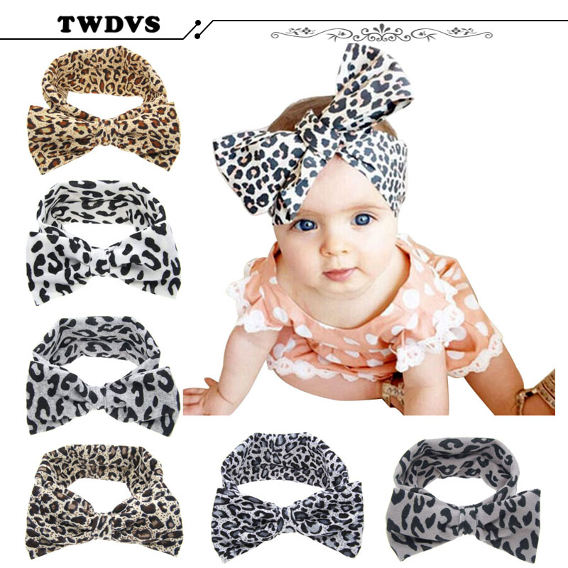 1PC Baby Kids Girl Child Toddler Infant Flower  Bow Hairband Turban Knot Rabbit Headband Headwear Hair Band Accessories KT037 1 pc women fashion elastic stretch plain rabbit bow style hair band headband turban hairband hair accessories