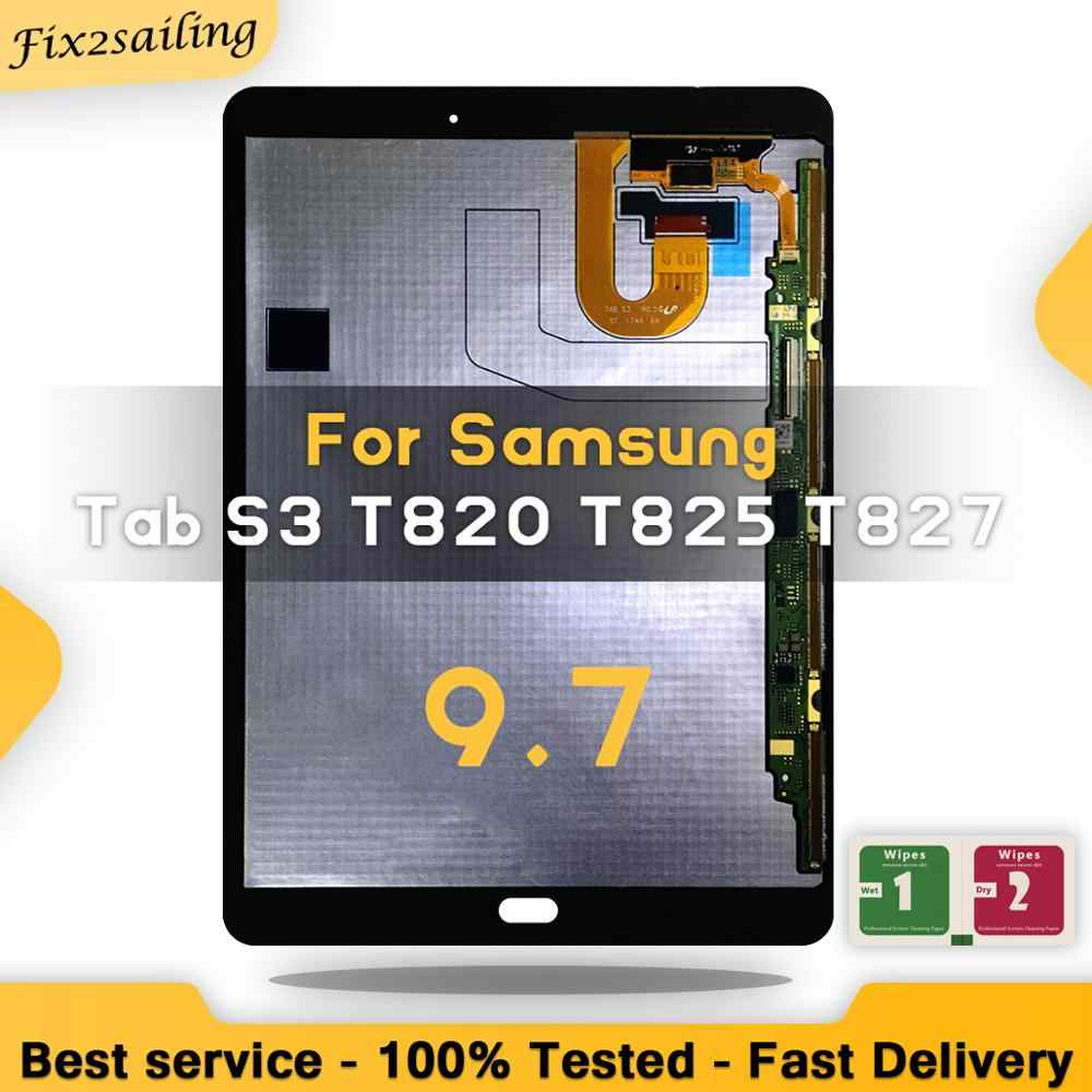 LCD Voor Samsung Galaxy Tab S3 T820 T825 Lcd Touch Screen Digitizer Vergadering Voor Samsung Galaxy Tab S3 T820 display 9.7""