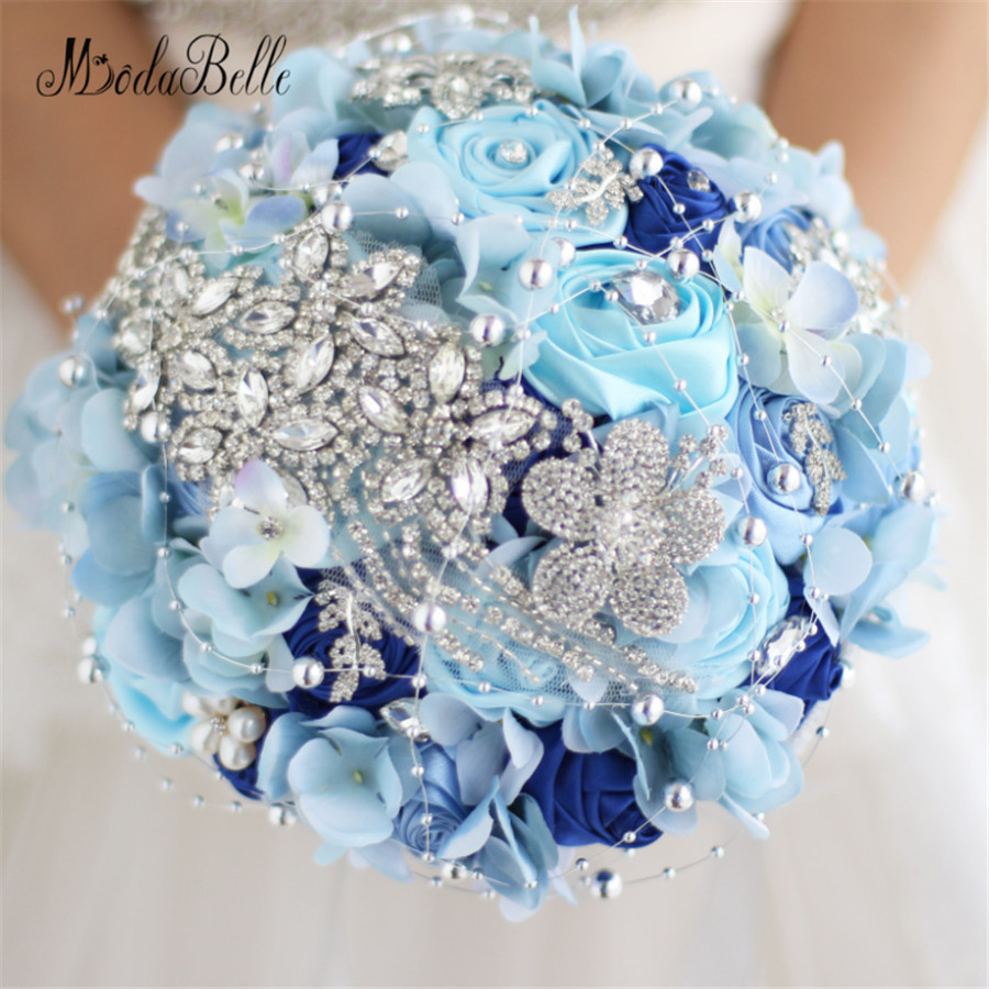 Average Cost Of Wedding Flowers 2014: Luxury Crystal Wedding Bouquets With Diamonds Brooch