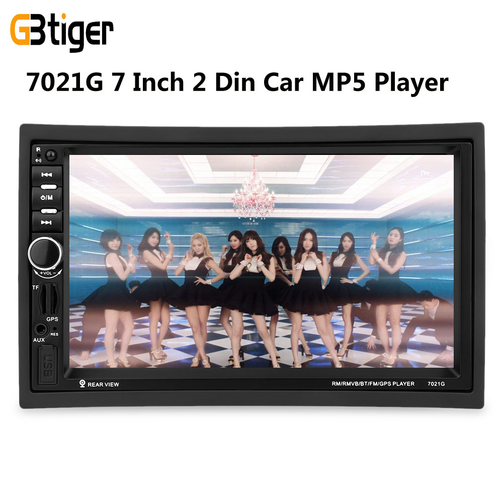 7021G 7 Inch 2 Din Car MP5 Player GPS Navagation Bluetooth Car Player USB 2.0 With FM Radio Rear View Camera European Map 7 touch screen car mp5 player 2 din bluetooth 1080p fm usb gps navigation with rear view camera remote control up to 32g