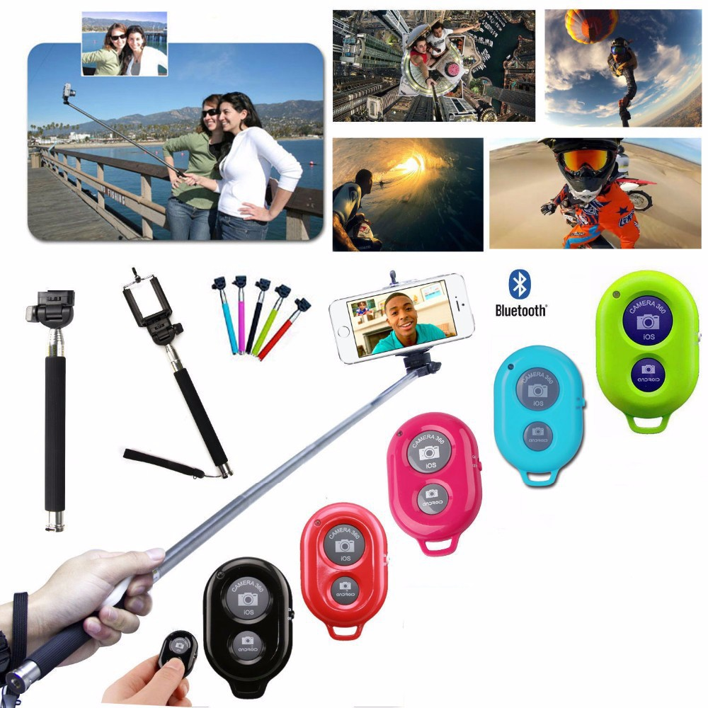 8in1 8x Zoom Phone Camera Lens for Universal Cell Telescope Fisheye Wide Angle Macro Bluetooth Shutter With Selfie Stick Tripod 3
