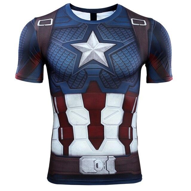 Captain america Mỹ 3D In T áo sơ mi Nam The Avengers 4 Endgame Lượng Tử Chiến Tranh Nén Áo Sơ Mi Sắt người đàn ông Cosplay Trang Phục Tops Đối Với nam