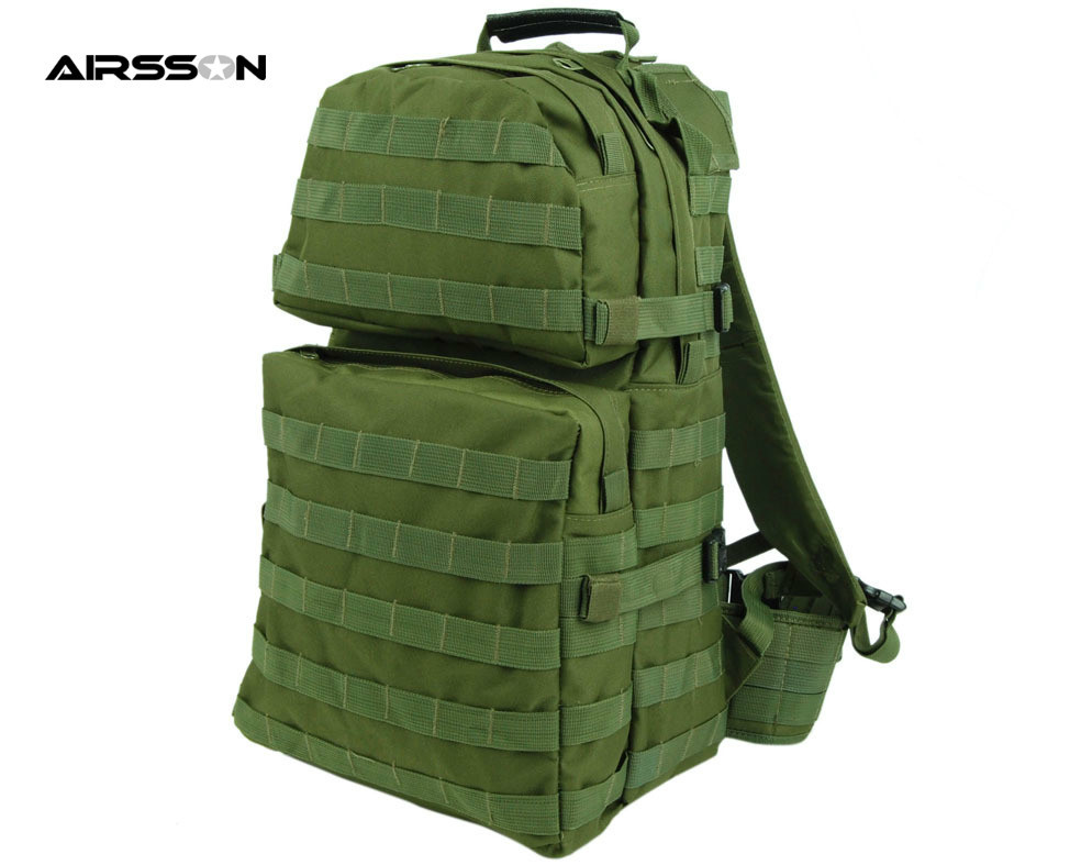 600D Nylon Molle Assault Backpack With Padded Waist Belt for Men Army Airsoft Tactical Military Hunting Backpack Bag