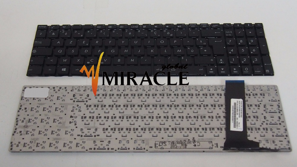 Laptop Keyboard for Asus N56 N56V N750 replacement KEYBOARD FR French Layout New and Original black color