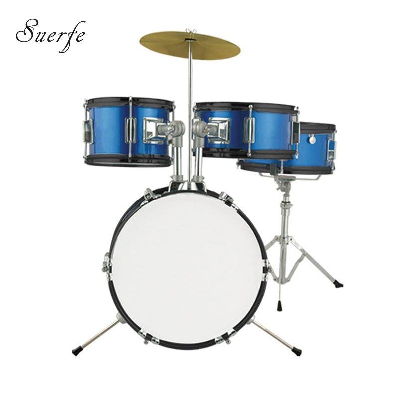 SUERTE Blue Color 3pcs Junior Drum Set 14 High Quality Birch Wood Drums Set Percussion Instrumentos Musicais Profissionais inflatable bouncer water trampoline china manufacturers air bouncer inflatable trampolines jumping bed adult pool toys