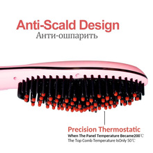 LCD Comb Brush Hair Straightener Professional Ceramic