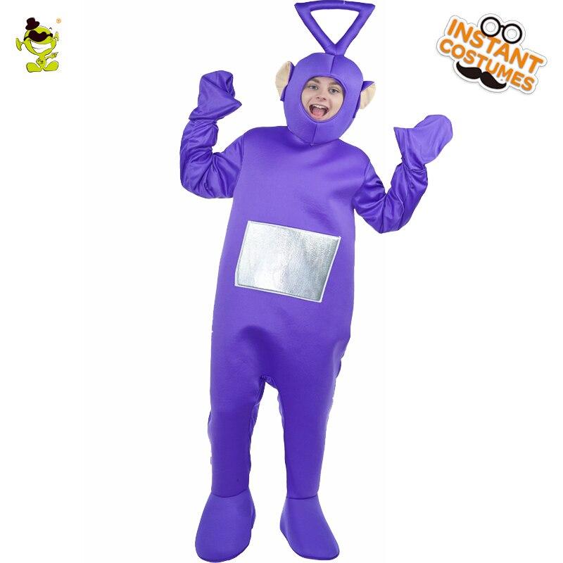 New Teletubbies Tinky Winky Costume Della Mascotte Del Fumetto Role Play Movie Viola Tinky winky Teletubbies Della Mascotte Tuta Cosplay