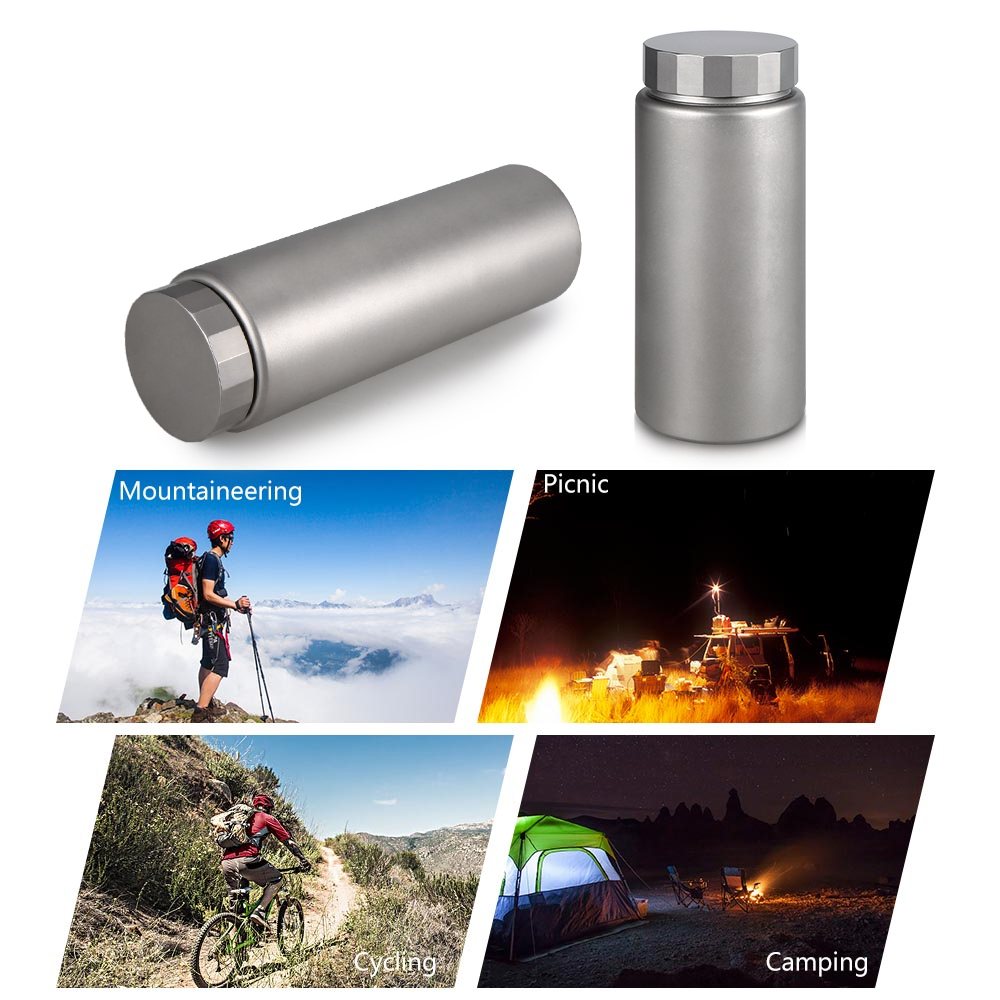 Titanium Water Bottle Wide Mouth Drinking Bottle for Outdoor Cicycling Camping Hiking Picnic Traveling 400ML / 600ML eyki h5018 high quality leak proof bottle w filter strap gray 400ml