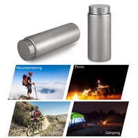 Titanium Water Bottle Wide Mouth Drinking Bottle for Outdoor Cicycling Camping Hiking Picnic Traveling 400ML / 600ML