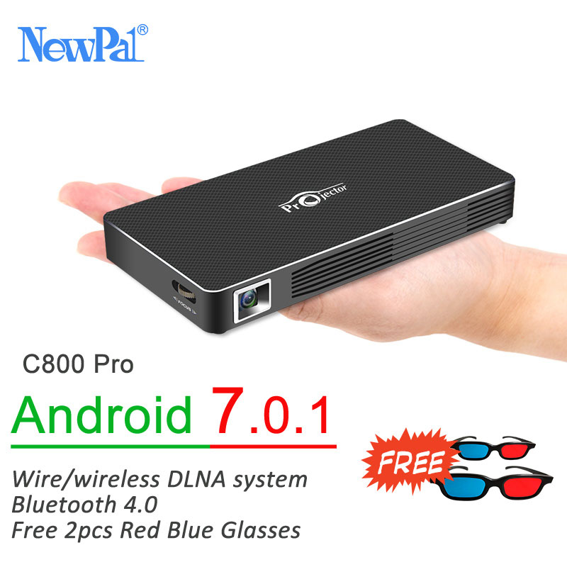 Newpal DLP Projector Full HD Video Mini 3D Projector Android 7.0 Portable Beamer Support WIFI Miracast Airplay DLNA TF TV 2016 best quality portable mini cheap video full hd 3d led dlp laser projector with low cost best for home school