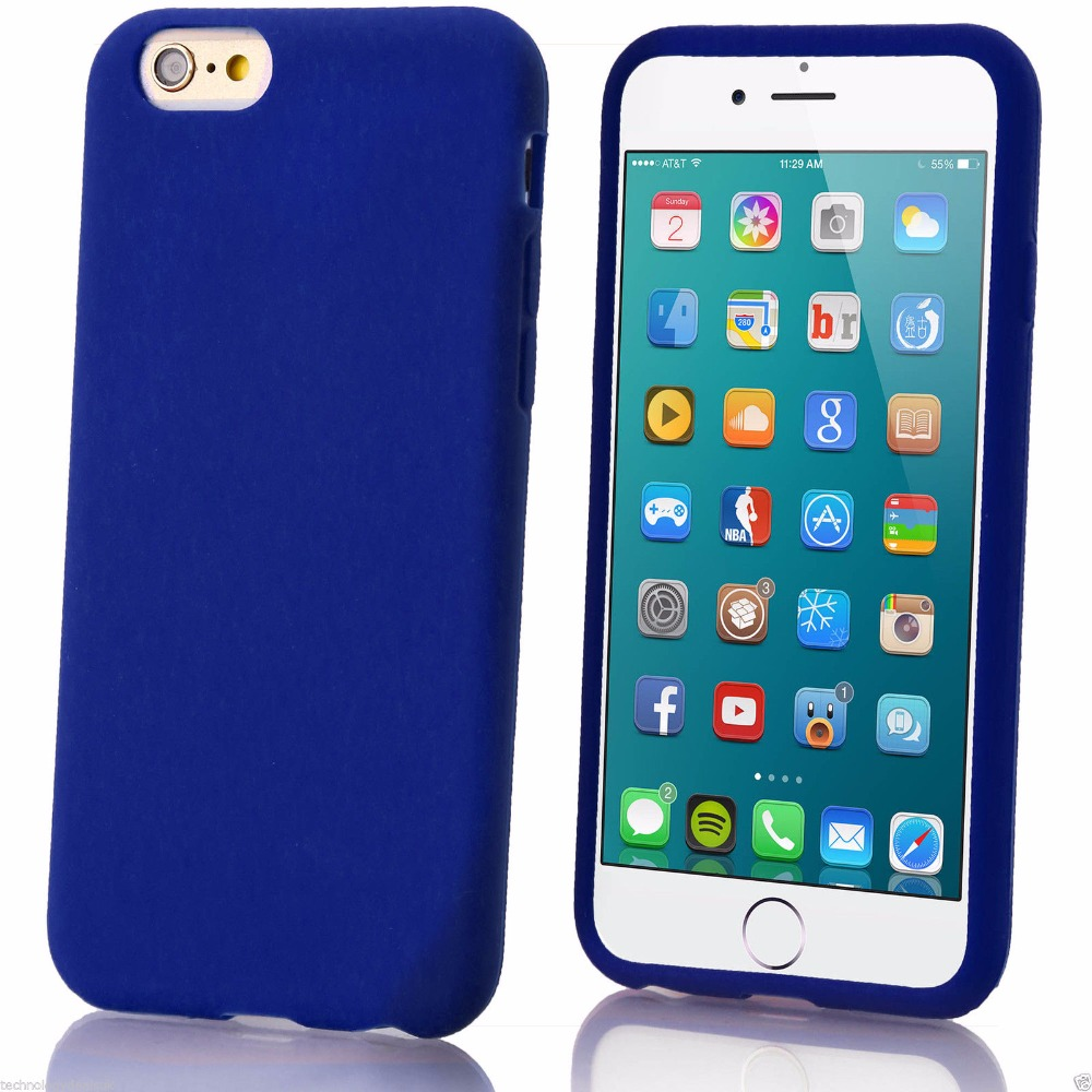 reputable site 80c00 8e8e3 US $3.69 |New Solid color Soft Rubber Gel Flex Case Cover Skin for Apple  iPhone 6s 6 plus Matte Plain Silicone phone cases for iphone6s + on ...