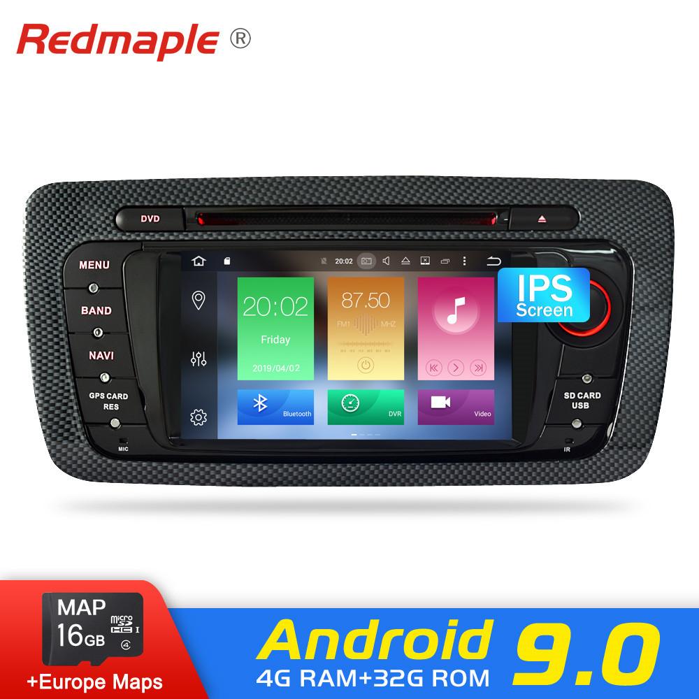 Android 9.0 Car Radio DVD GPS Navigation Multimedia Player Para Seat Ibiza Sportcoupé MK4 6J Ecomotive Cupra 2009-2015 auto Áudio