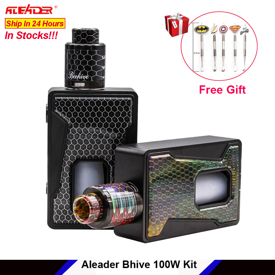 Original Aleader Bhive 100W BF Squonker Box TC Mod Kit Squonk e cigarette with Resin panel