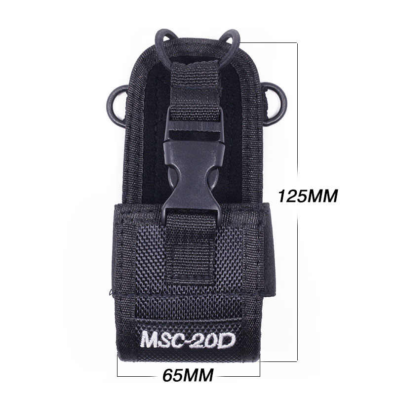 2 uds Abbree MSC-20D Nylon funda de transporte para Walkie Talkie BaoFeng UV-5R UV-5RA UV-5RB UV-5RC/5RE UV-B6 BF-888S sobre las Mototrola Radio