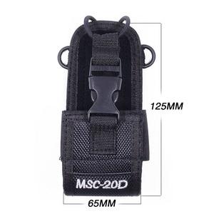 Image 2 - Funda de transporte de nailon para Walkie Talkie BaoFeng MSC 20D UV 5R UV 5RA UV 5RB/5RE UV 5RC UV B6 TYT motocross Radio, 2 uds.