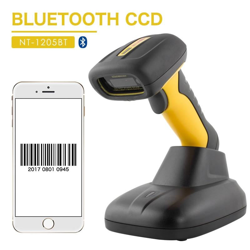 Nt-1205bt ручной Беспроводной Bluetooth сканер штрих-кодов промышленных IP67 Водонепроницаемый 32bit сканер штрих-кода для pos Системы netum