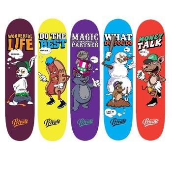 SK8ER Private Professional Skateboard Deck 8.0/7.875/8.125 Canadian Maple Deep Concave Skateboard Deck with Free griptape