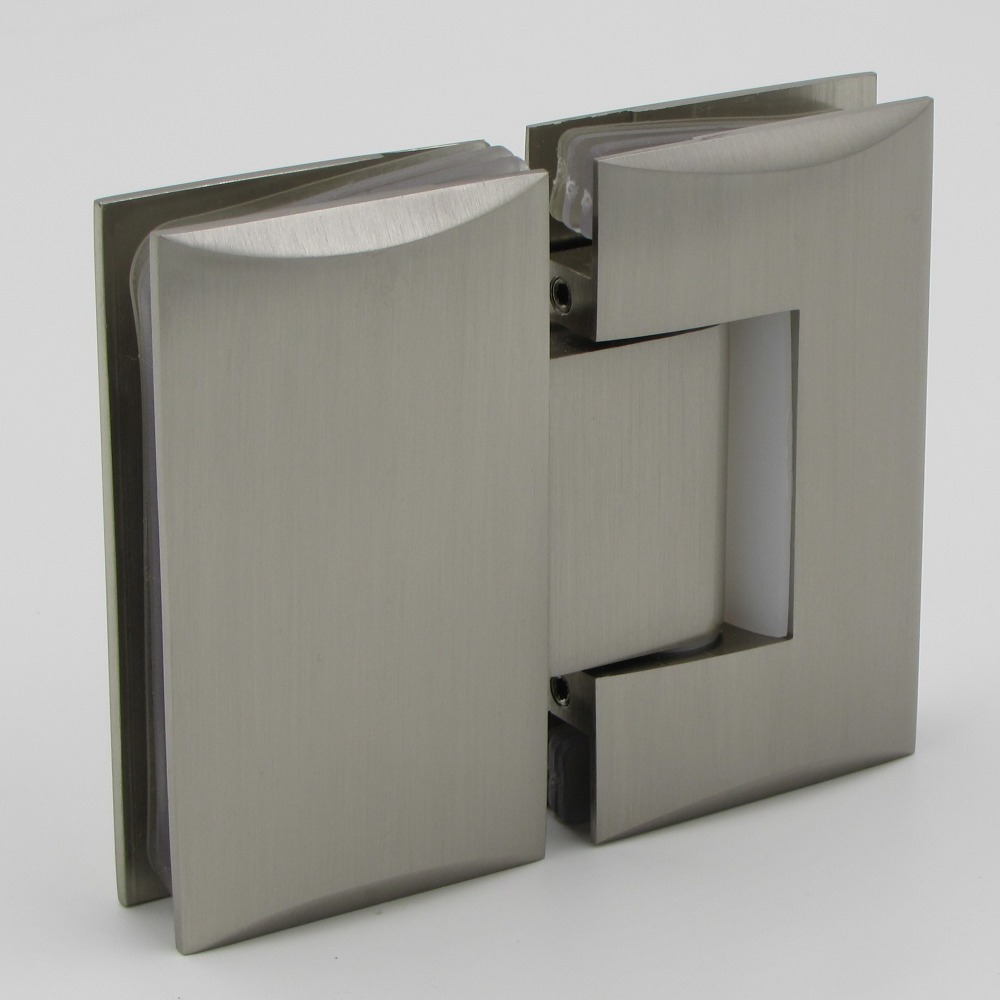 Shower glass door hinges - Chrome Plated 180 Degree Glass To Glass Shower Door Hinge For 8 12mm