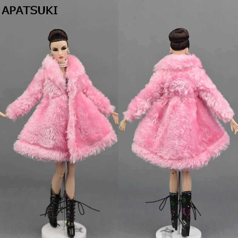 Accessori Bambola Rosa Usura Inverno Caldo Cappotto Di Pelliccia Per Barbie Dolls Pelliccia Vestiti Vestito Bambola Vestiti Per 1/6 Bjd Bambola Giocattolo Per Bambini Evidente Effetto