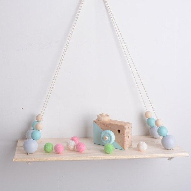 100% Original Wood Handmade Nordic Style Decoration Wall Shelf  For Toys Plants Folding Shelves Home Storage Holders Racks