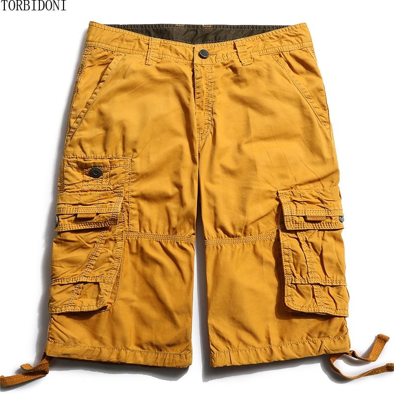 Bermuda Masculina Men Casual Cargo Shorts Loose Short Pants Military Summer New Style Knee Length Plus Size 29-40 Shorts Men