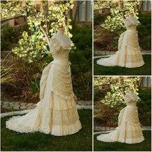 Freeshipping!Customer-made Luxs Vintage Costumes Victorian Dresses Scarlett Civil War dress Cosplay Lolita dresses US4-36 C-1044