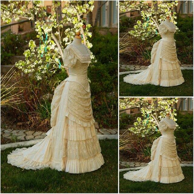 US $223 2 10% OFF|2017 New!Customer made Luxs Vintage Costumes Victorian  Dresses Scarlett Civil War dress Cosplay Lolita dresses US4 36 C 1044 on