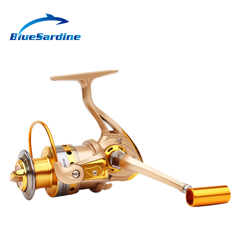 New Spinning Reel Fishing pesca coil Fishing Reel Golden Metal Spool - Fishing - Photo 5