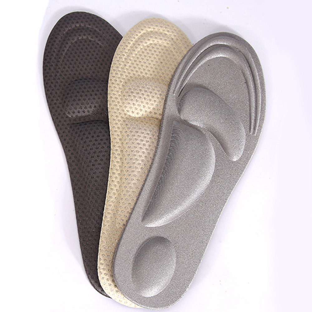 1Pair <font><b>4D</b></font> Memory Foam Orthopedic Insoles For <font><b>Shoes</b></font> Arch Support Solid Color Breathable High Elastic Flat Feet Care Pad <font><b>Shoe</b></font> Soles image