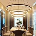 Circel anéis modern led pingente luzes para sala de jantar sala de estar acrílico cerchio anello lampadario pingente lâmpada lâmpadas modernas