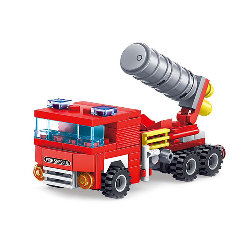 Toys 348PCS DIY Fire Station Building Blocks Bricks Toys For Children Compatible Legoing City Construction Firefighter Firemen in Blocks from Toys Hobbies