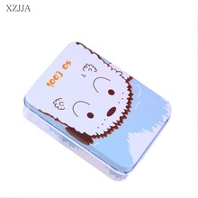 XZJJA Cute Cartoon Multi-function Storage Box Travel Portable Jewelry Receive Case Small Tin Box Objects Receive Bins Organizer