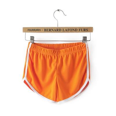 Карамельный цвет ретро пикантные стрейч шорты для женщин женские 13 цветов повседневные свободные пляжные Hotpants - Цвет: Оранжевый