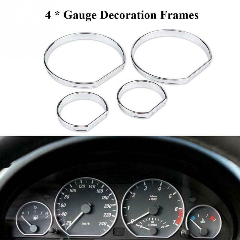 Hlyjoon Car Dashboard Speedometer Gauge Decoration Frame Carbon Fiber Dial Rings Trim Dashboard Frame Panel Cover Trim Fits for Auto Infiniti Q50 Q60