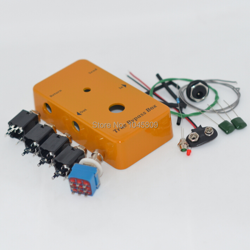 Looper PB-N1160/1590B DIY guitar pedals, aluminum pedals box + Foot Pedal Switch + LED lights + interface + solder True Bypass