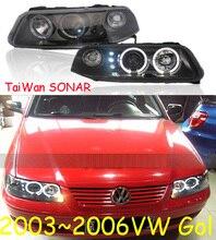 Gol headlight,2003~2006 (Fit for LHD,RHD need add 200USD),Free ship!Gol fog light,2ps/se+2pcs Aozoom Ballast,Gol,Golf