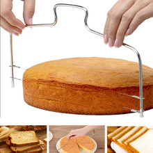 Double Line Adjustable Stainless Steel Metal Cake Cutter Slicer Equipment Kitchen Baking Tool