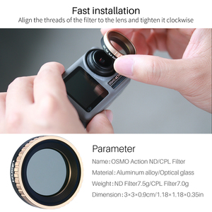 Image 4 - Ulanzi CPL Objektiv Filter für Dji Osmo Action ND8 ND16 ND32 ND64 Kamera Objektiv Filter Action Kamera Zubehör