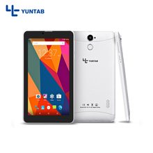E706 Yuntab Nueva 7 pulgadas 3g PC de la Tableta de Doble SIM Mini tarjeta de Cuádruple Núcleo pantalla Capacitiva 1024*600 de Doble Cámara 2800 mAh batería