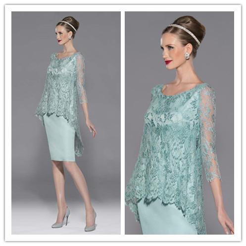 Encajes madre de la novia trajes pantalón formales Abiye más el tamaño Elbise madre de la novia vestidos vestidos fiesta vestidos madrina